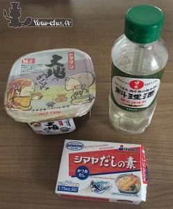Ingrédients bouillon miso